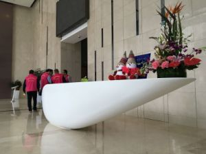 Acrylic Solid Surface Half Round Reception Desk pictures & photos