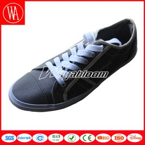 Plain Leisures Men Canvas Shoes with Shoelace