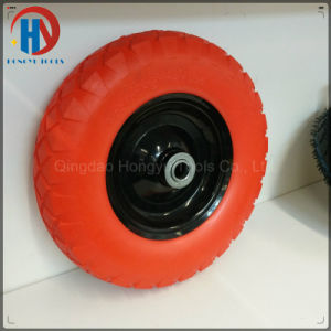 Metal Rim with Bearings 4.80/4.00-8 Solid PU Foam Wheel pictures & photos