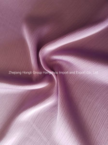 Polyester Satin Pleats Chiffon Fabric for Ladies′ Garment pictures & photos