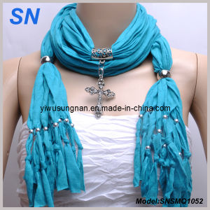 2015 OEM Fashion Cross Pendant Scarf (SNSMQ1052) pictures & photos