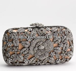 Brilliant Crystal Floral Clutch Latest Design (C2002)