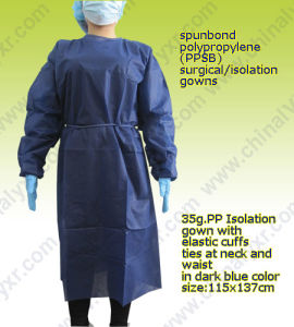 PP Non Woven Disposable Isolation Gown pictures & photos