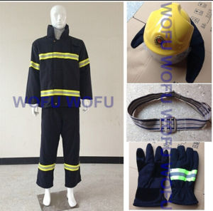 Whole Set of Fire Safety Outfit, Suit, Helmet, Belt and Gloves pictures & photos