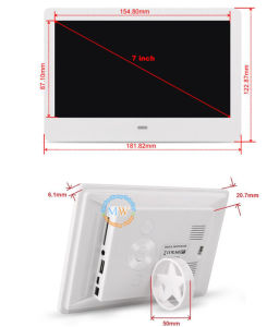 2017 New Design Slim LCD 7 Inch Digital Photo Picture Frame (MW-077DPF) pictures & photos