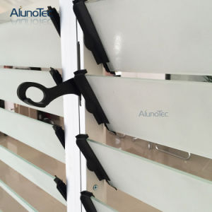 75 Series Aluminum Glass Shutter Louver Jalousie Window with Screen Net pictures & photos