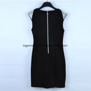 Black Dress Design Wholesale Clothing Women Dresses New Summer with Zipper pictures & photos