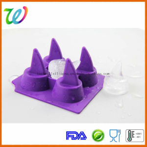 Party Jelly Chocolate Shark Fin Ice Cube Maker Tray Silicone Mould pictures & photos