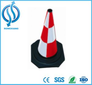 Red White Rubber Safety Cone pictures & photos