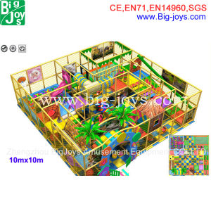 Commercial Indoor Playground, Plastic Playground for Sale (BJ-AT23) pictures & photos