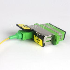 Laser Warning Labelled Sc Shutter Fiber Optic Adapter pictures & photos