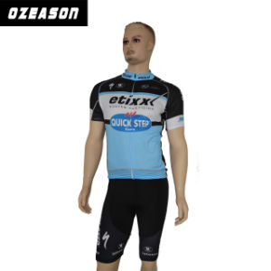 High Quality 3D Fabric Cutting Sublimation Short Sleeve Cycling Jersey pictures & photos