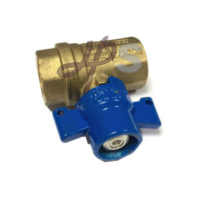 Brass Lockable Ball Valve with Aluminum Handle pictures & photos