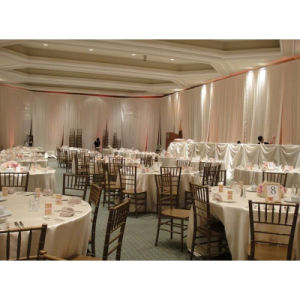 Easy Install Pipe Drape Stand Fringe Ceremony Backdrop Wedding Hall Decoration pictures & photos