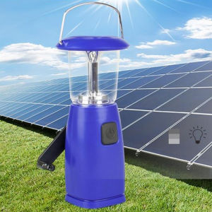 Rechargeable LED Work Light Solar Power Emergency Hand Crank Camping Light pictures & photos