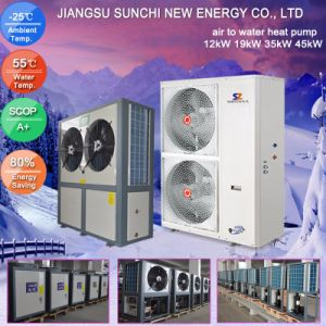 TUV, CE, Australia, New Zealand Certificate 220V R410A 3kw, 5kw, 7kw, 9kw Max 60deg. C Sanitary Domestic Water Heat Pump pictures & photos