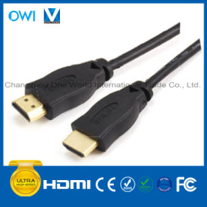 Pure Black HDMI 19pin Plug-Plug Cable pictures & photos