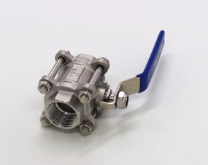 Three Piece Stainless Steel Ball Valve pictures & photos