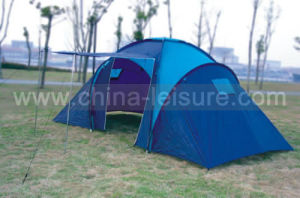 6 Persons Family Camping Tent with 3 Sleeping Cabins (Nug-T06A)
