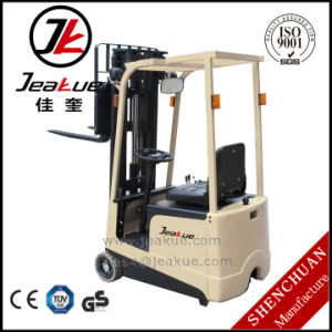 Jeakue 1t Mini Three Wheels Electric Forklift pictures & photos