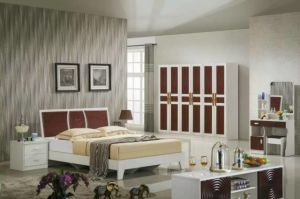 High Quality Cheap Modern Wardrobe, Fashion Bedroom Sets Furniture (9C012) pictures & photos