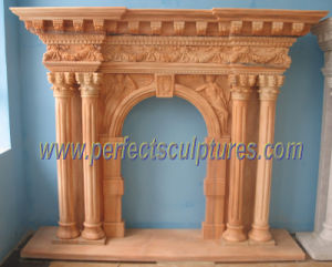 Marble Fireplace for Stone Mantel (QY-LS274) pictures & photos