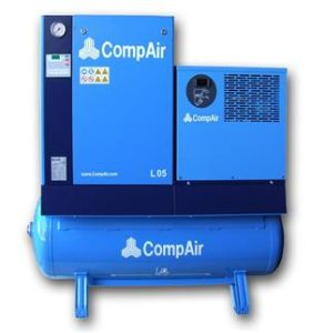 L Series - L02fs (AIRstation) (Receiver mounted with refrigerant dryer) (200 litre air receiver) , Compair Screw Compressor, Compair Brand Compressor