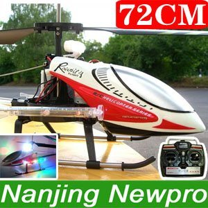 72cm 3CH RC Helicopter With Metal Frame,LED Lights,Free Spare Parts (LY4004W)