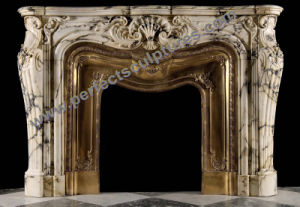 Marble Fireplace Surround with Stone Granite Limestone Sandstone Granite (QY-LS381) pictures & photos
