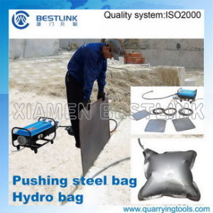 Marble Quarry Use Hydro Bags for Block Push Down Job pictures & photos