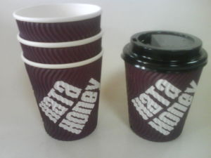 Corrugated Paper Cup in Vertical Design pictures & photos