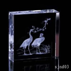 Crystal 3D Laser Engraving pictures & photos