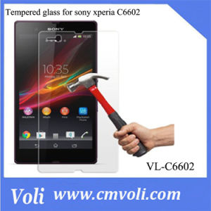 9h Super Hardness Tempered Glass Screen Protector for Sony Xperia Z L36h C6602 pictures & photos