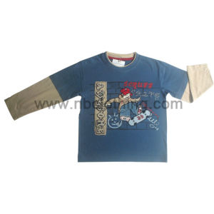 Boys Crew Neck Long Sleeve T-Shirt (Lt-07-03)