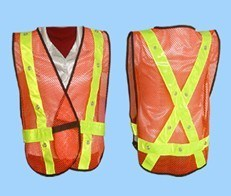 LED Reflective Safety Vest, 100% Polyster With High Bright Reflective Tape pictures & photos