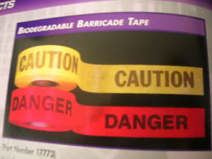 Hot Customized Custom Printed Caution Tape pictures & photos