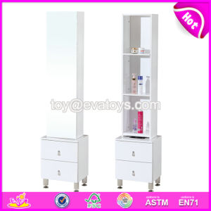 Wholesale Cheap Full Size White Wooden Modern Mirrored Drawers W08h089 pictures & photos