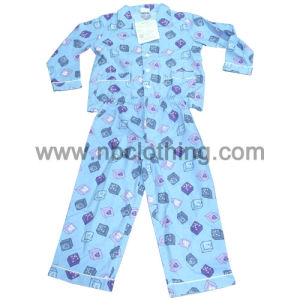 Children 100%Cotton Printed Flannel Pyjamas