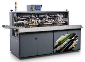 Full Automatic Glass Bottle / Container and Cup Screen Printing Machine (SZD-104A)