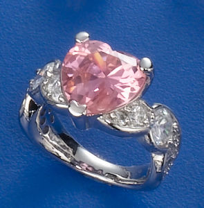 CZ Heart Shape Ring pictures & photos