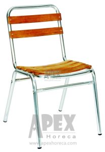 Aluminium Teak Chair Outdoor Furniture Wood Chair Without Arm (AS1001AW) pictures & photos