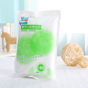 Soft Nonwoven White Disposable Hair Salon Towel Bath Towel pictures & photos