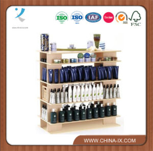 4′ Wide Wooden Stand Alone Salon Display Shelf pictures & photos