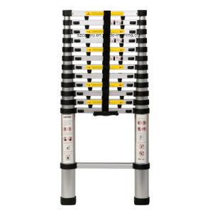 Portable & Foldable Aluminum Telescopic Ladder 3.8m pictures & photos