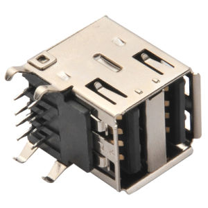 Mini USB-B/Receptacle/SMT Type USB Connector pictures & photos