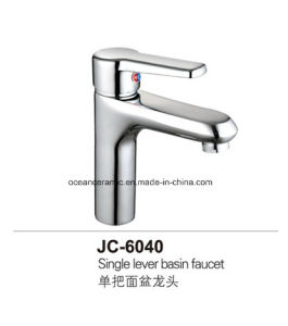 6040 Warm and Cold Faucet, Brass Mixer, Metal Basin Tap pictures & photos