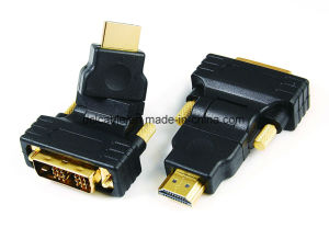 270 Degree Rotating DVI18+1 Male to HDMI Male Adapter pictures & photos