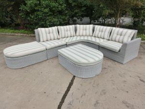 Outdoor Wicker Furniture Round Rattan Sofa Set Garden Furniture pictures & photos