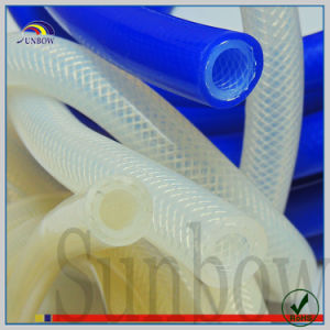 Colorful Extruded Silicone Rubber Reinforced Tube with Fiberglass Yarn pictures & photos