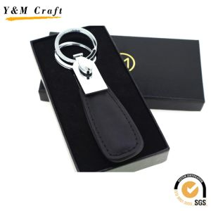 Custom Special High Quality Red PU Leather Metal Key Ring pictures & photos